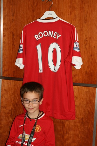 Rooney's shirt and me.