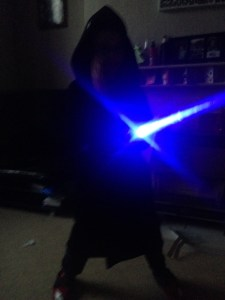Me with my lightsaber