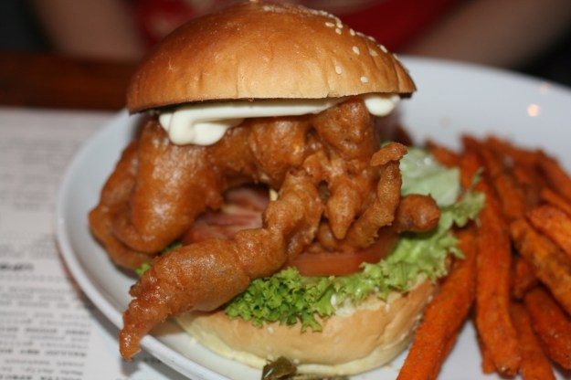 My soft shell crab burger