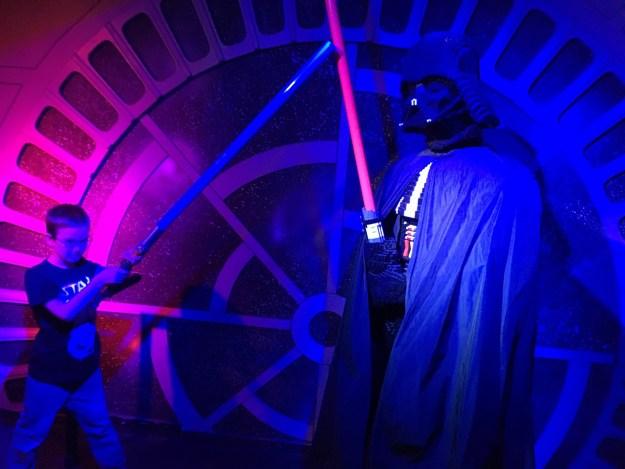 Me battling Darth Vader