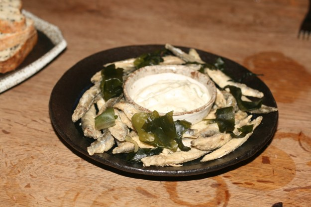 whitebait with tartare sauce