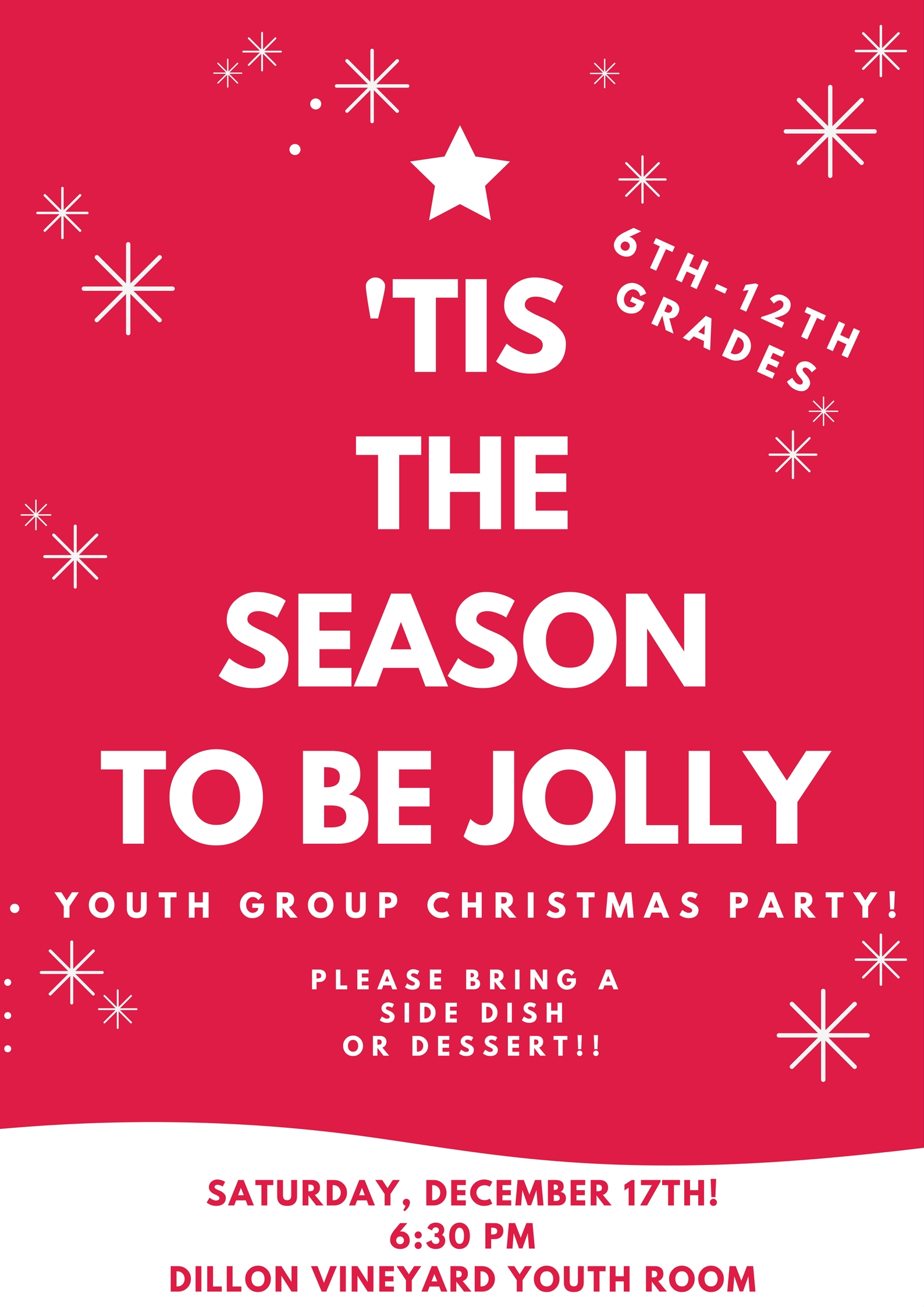 Youth Group Christmas Party- December 17th, 6:30 PM | Dillon Vineyard