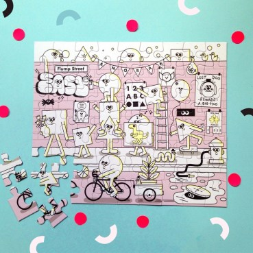 Dilly and the boo blog art inspired decor Happy Jigsaw - Flump Street! Anorak