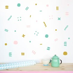 Dilly and the boo blog art inspired decor Happy wall pattern madeof sundays