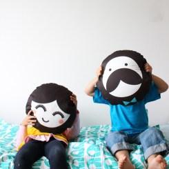 Dilly and the boo blog art inspired decor Pepé Round Cushion Rachel Powell