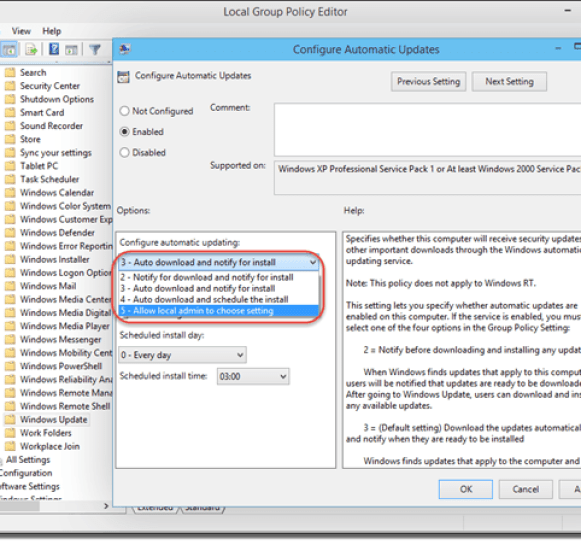 How To Disable Windows Update in Windows 10 Technical Preview - Configure Automatic Updates
