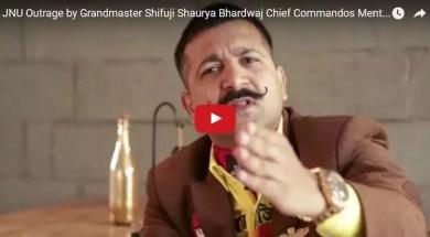 JNU Outrage by Grandmaster Shifuji Shaurya Bhardwaj Chief Commandos Mentor
