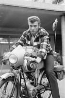 Johnny Hallyday on Motorcycle