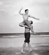 Mikhail Baryshnikov and Rob Besserer by Annie Leibovitz 1990
