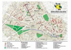 """Ο χάρτης για το παιχνίδι του κρυμμένου θησαυρού - """"Hidden Athens City Chase/the map"""