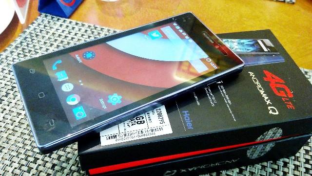 Andromax Q dari Haier, smartphone yang digunakan untuk drive test Smartfren kali ini