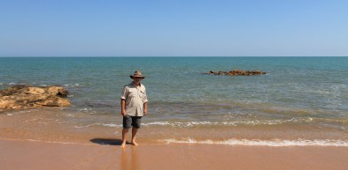 Dipping Our Toes In The Timor Sea On Dundee Beach (NT)