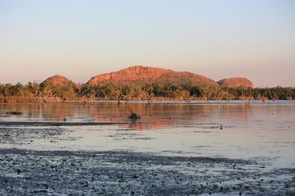 Lake Kununurra - View From Our Van At Kimberleyland Caravan Park (WA)