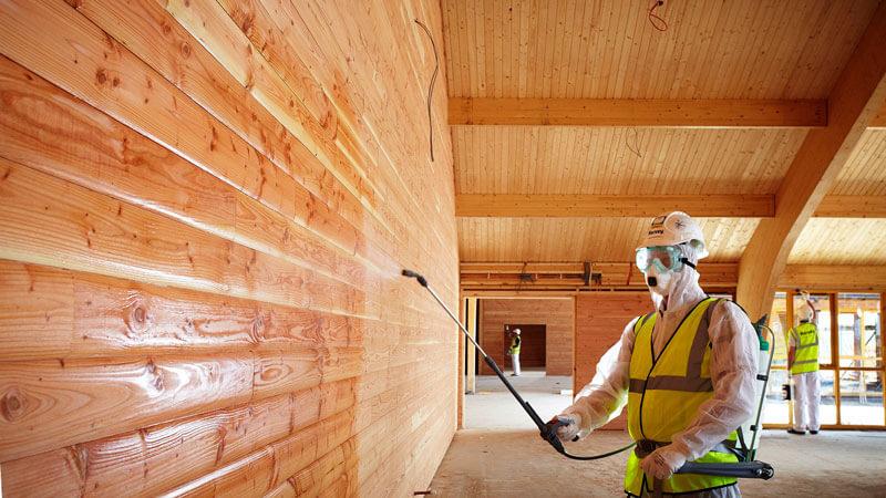 как красиво покрасить деревянный дом