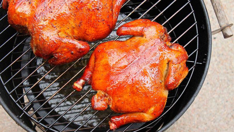курицы в коптильне горячего копчения