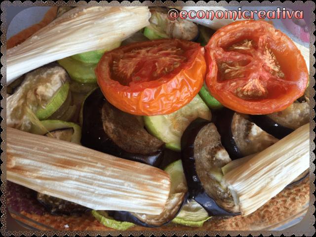 verduras asadas en microondas
