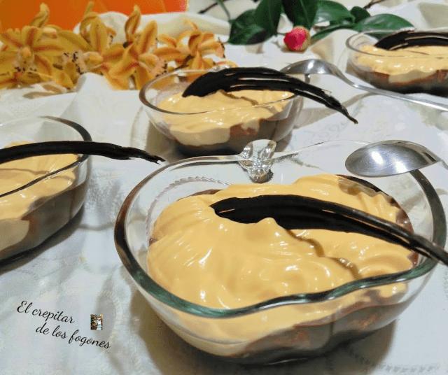 CREMA DE MANGO Y MASCARPONE CON CHOCOLATE
