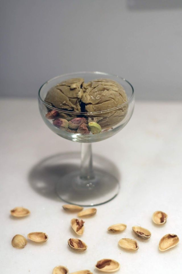 helado de pistacho