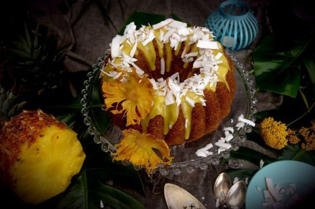 "PainKiller Bundt Cake, The Best Tropical, ""Boozy"", Pineapple Cake #BundtBakers"