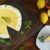 Cheesecake de lima limon sin horno, una tarta cremosa y refrescante