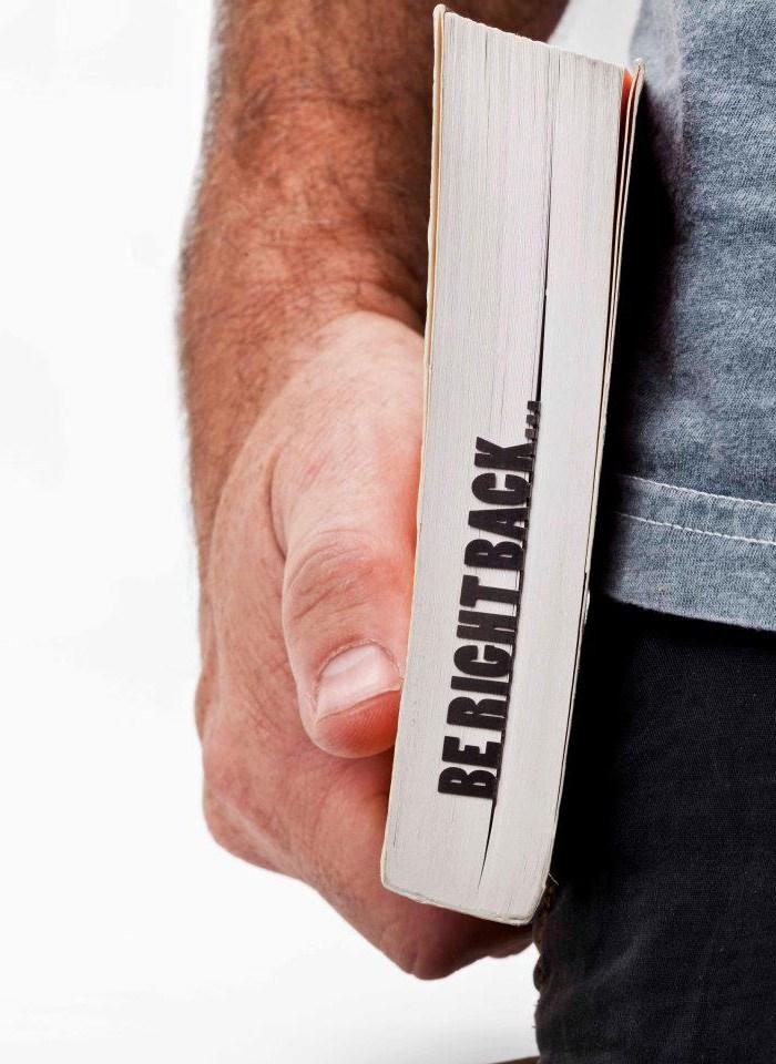 Penanda Halaman Buku Bentuk Be Right Back