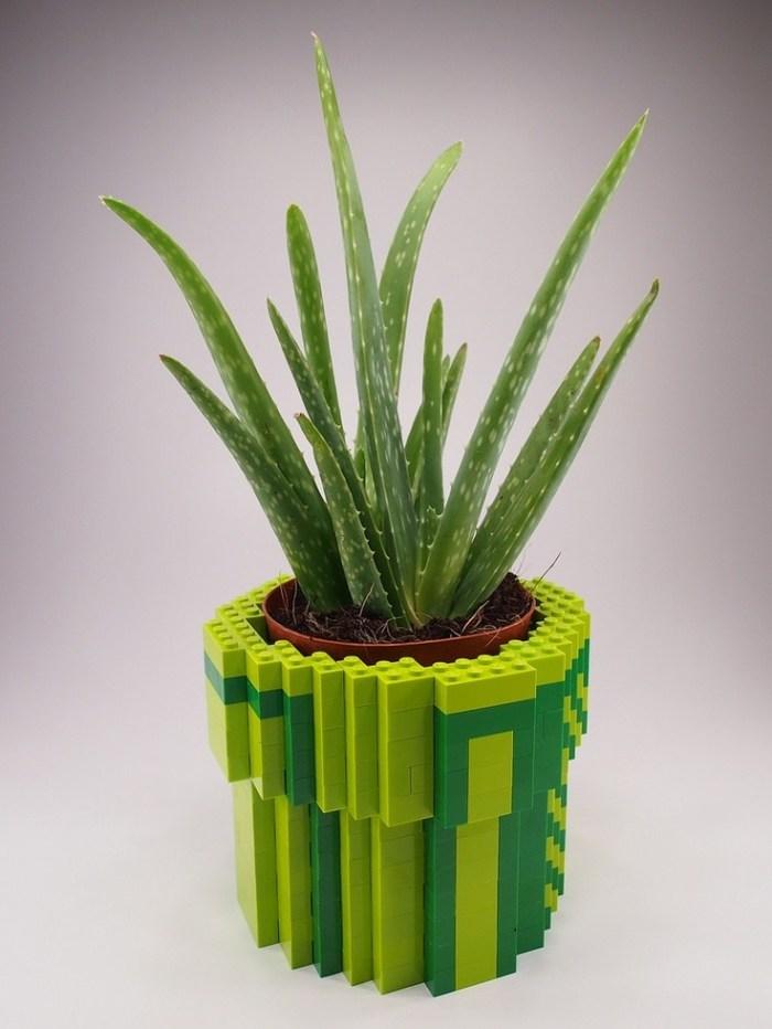Lego jadi Hiasan Pot bunga di Rumah