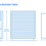 Line Bedside Table Dimensions Drawings Dimensions Com