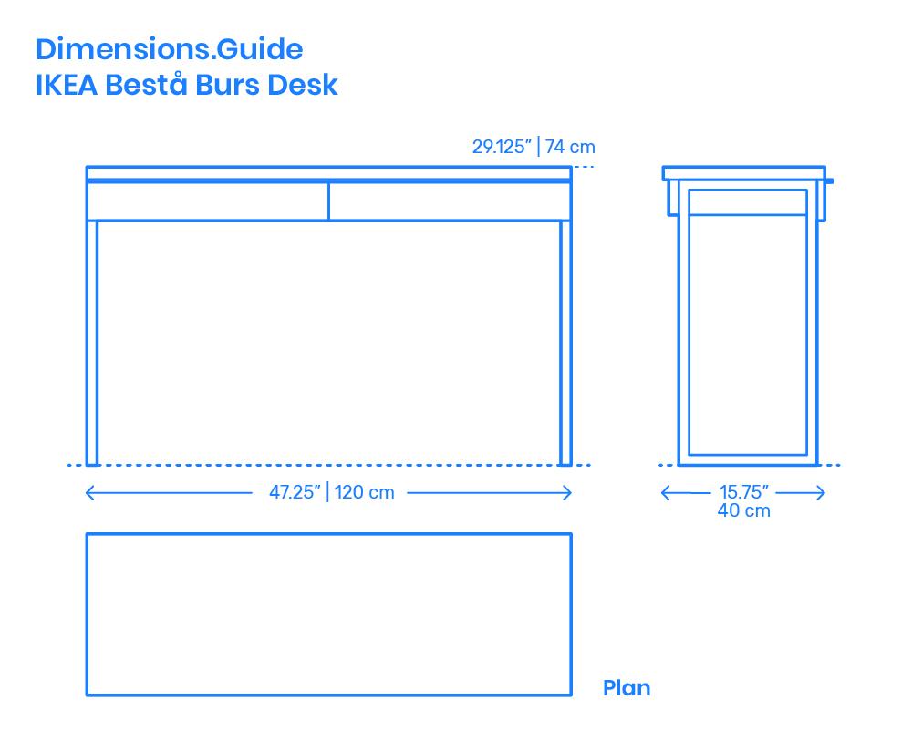 ikea besta burs desk dimensions