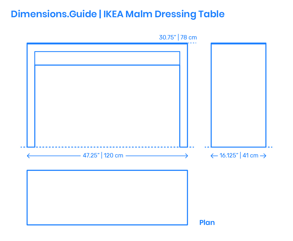 Ikea Malm Dressing Table Dimensions Drawings Dimensions Com