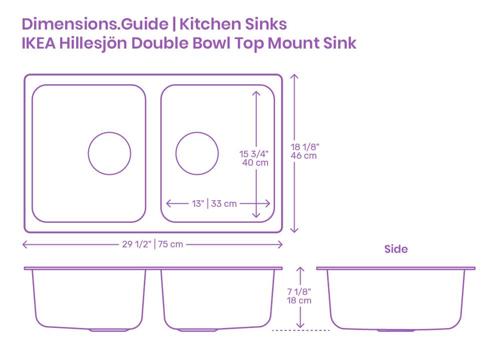 ikea hillesjon double bowl top mount