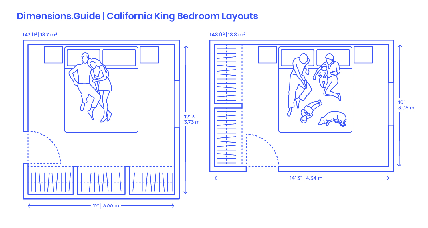 California King Bedroom Layouts Dimensions Amp Drawings