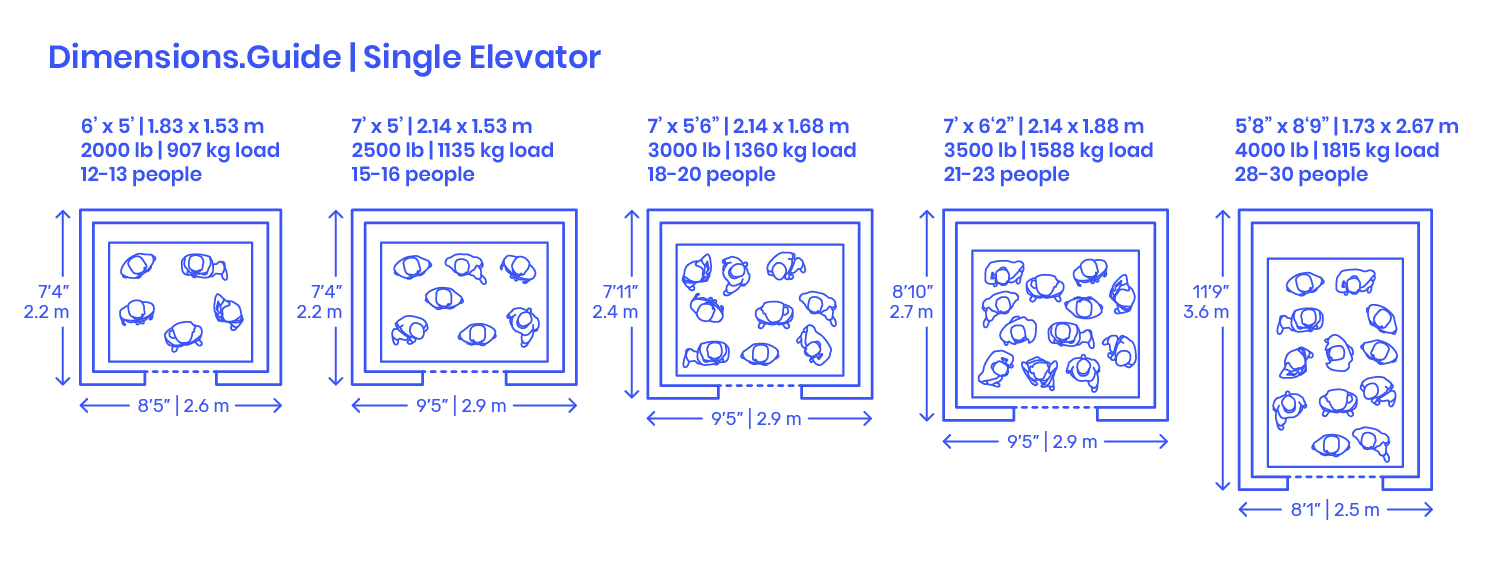 One Single Lift Dimensions Amp Drawings DimensionsGuide