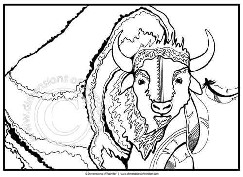 native american coloring pages printable buffalo tatanka