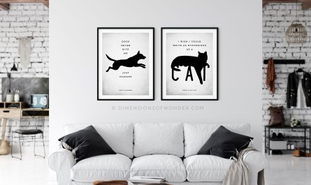modern free printable art minimalist scandinavian dog cat quote