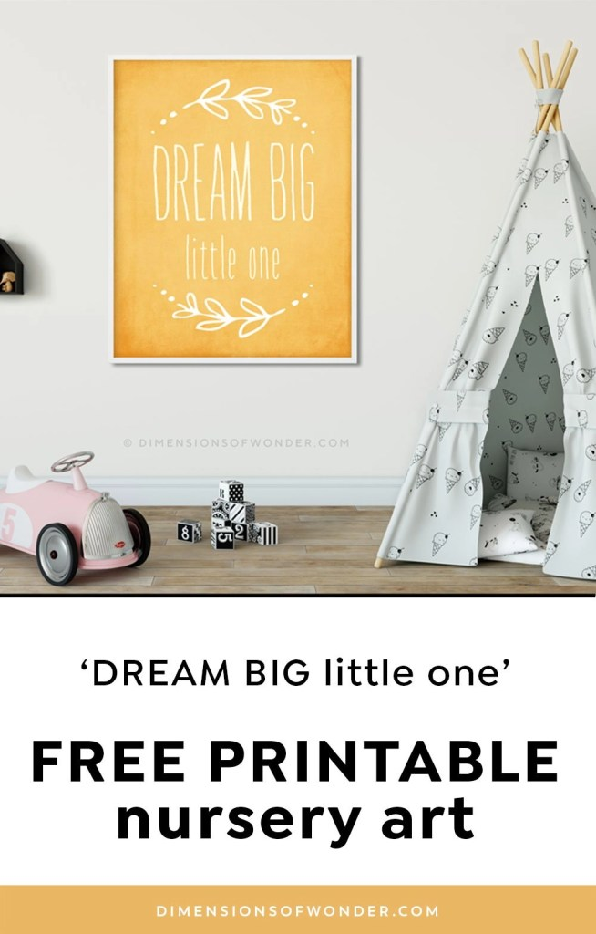 Dream-Big-Little-One-Yellow-Floral-Printable-Art-Pin1