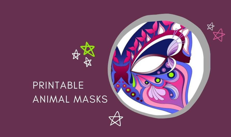 Printable Masks of Animals, Incl. a Free Coloring Page