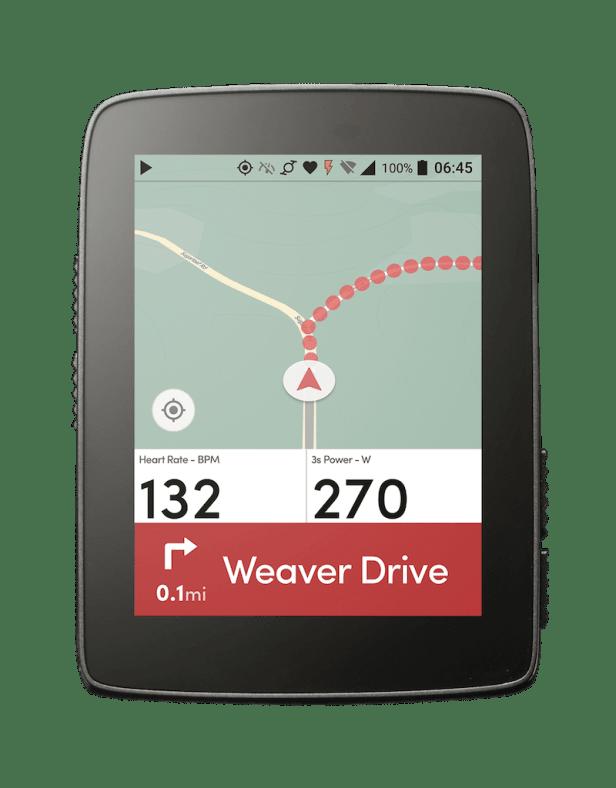 Ecran de navigation du Hammerhead Karoo