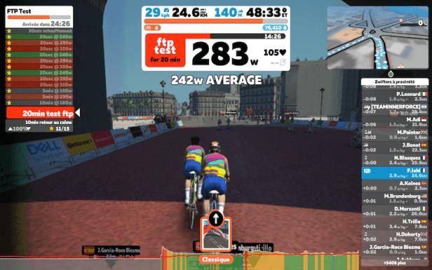 Zwift entraînement virtuel