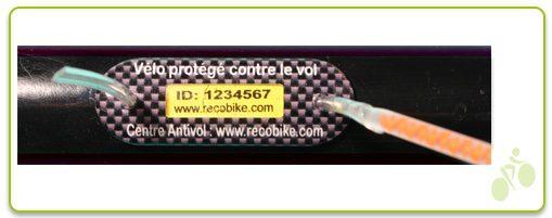 marquage antivol vélos