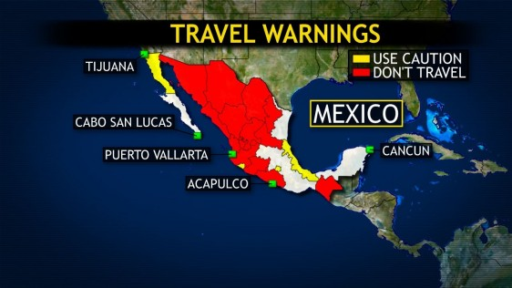 Map Mexico And Surrounding Areas