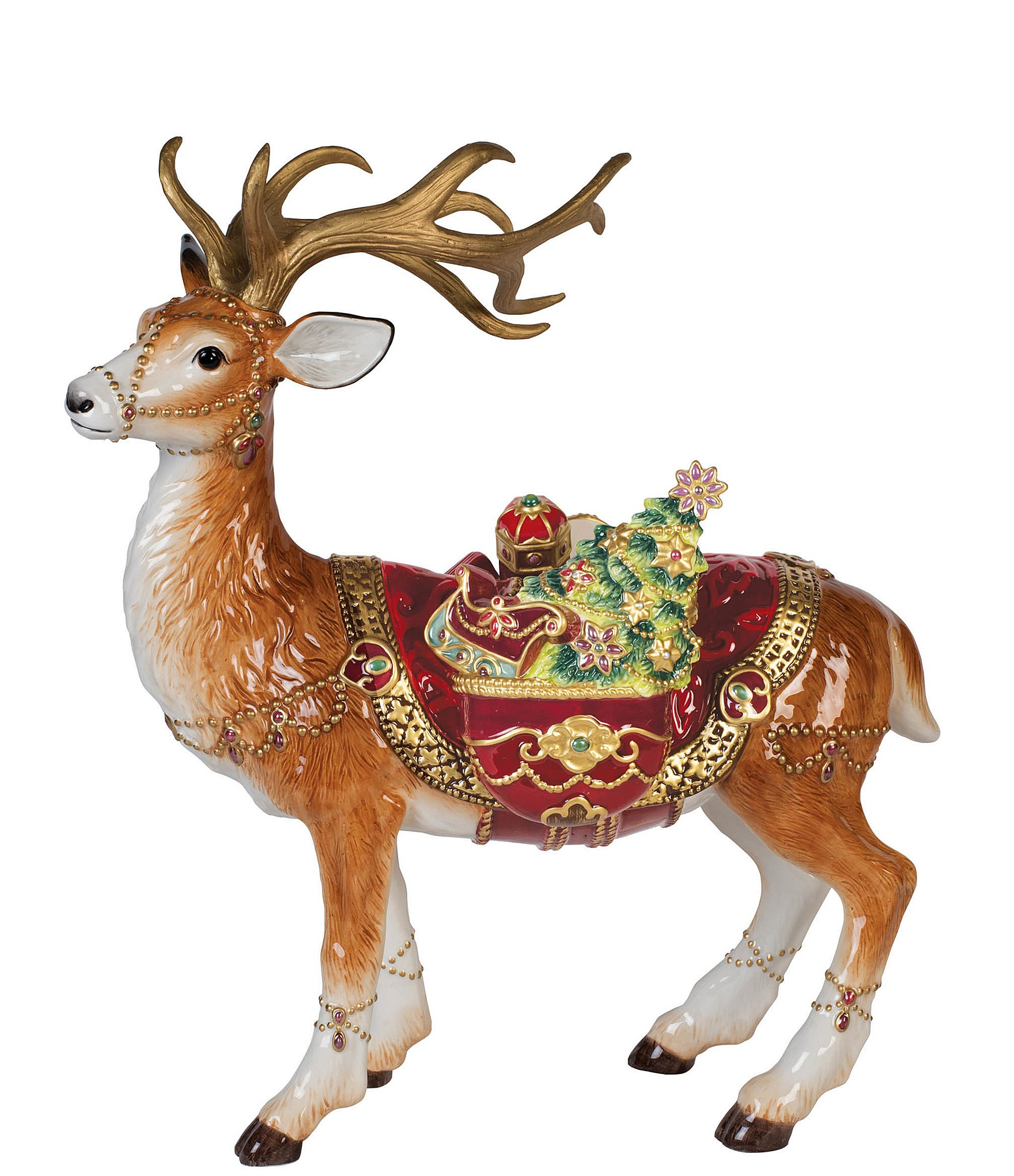 Fitz And Floyd Renaissance Standing Deer Figurine Dillards