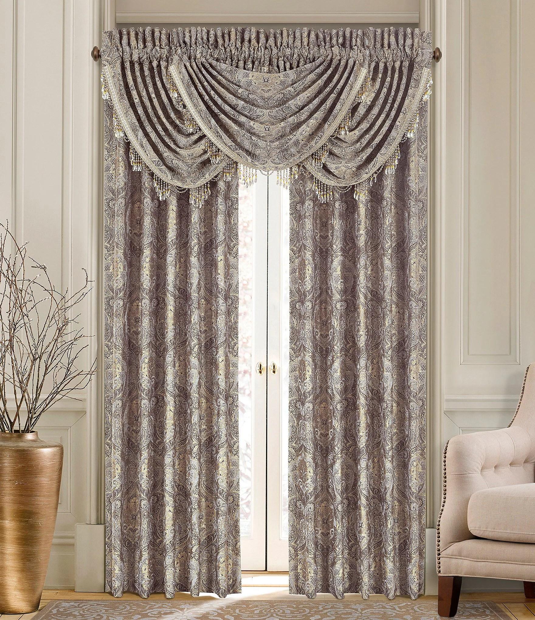 J Queen New York Provence Damask Chenille Window Treatments Dillards