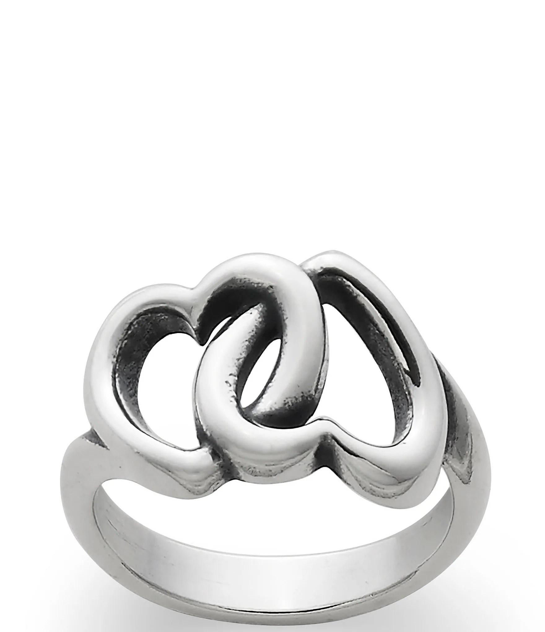 James Avery Linked Hearts Ring Dillards