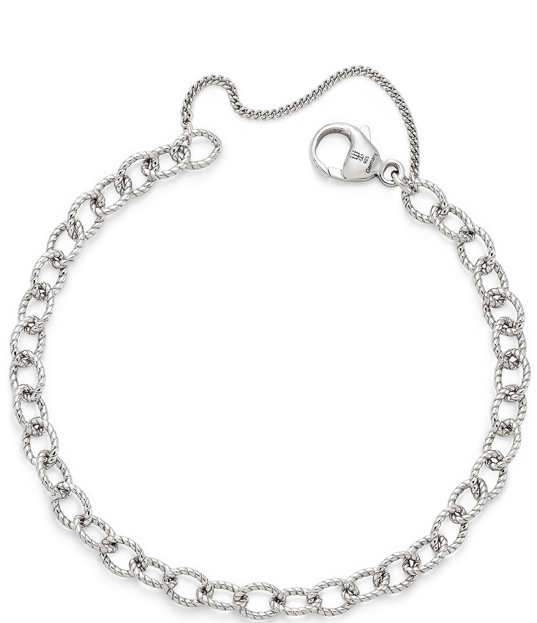 James Avery Twisted Wire Cable Link Charm Bracelet