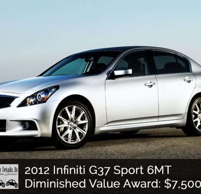 Diminished Value on an INFINITI G37 – $7500 won!