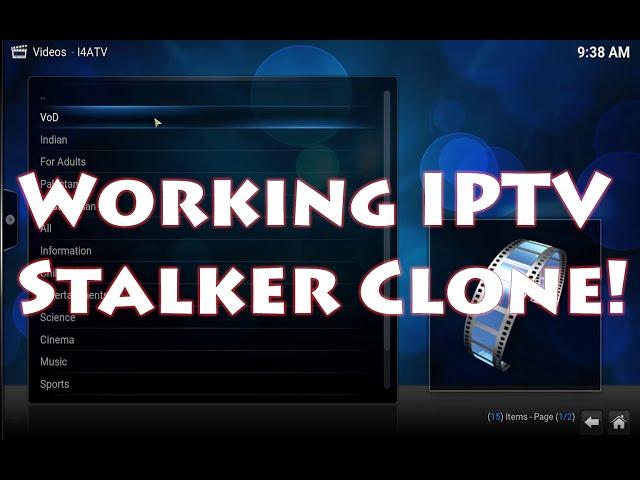 i4ATV IPTV Stalker clone free 100% fully working for KODI / XBMC
