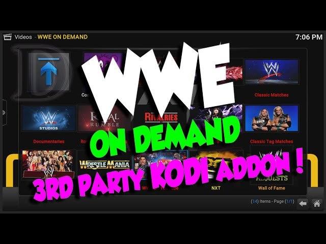 How to install WWE On Demand addon on KODI by PBear90 (3rd