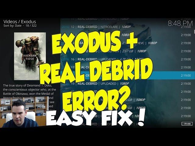EXODUS AND REAL DEBRID ERROR FIX - NO DEBRID LINKS EASY FIX!