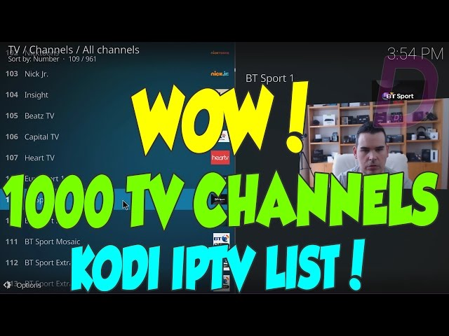 1000 LIVE TV CHANNELS ON KODI - IPTV LIST M3U