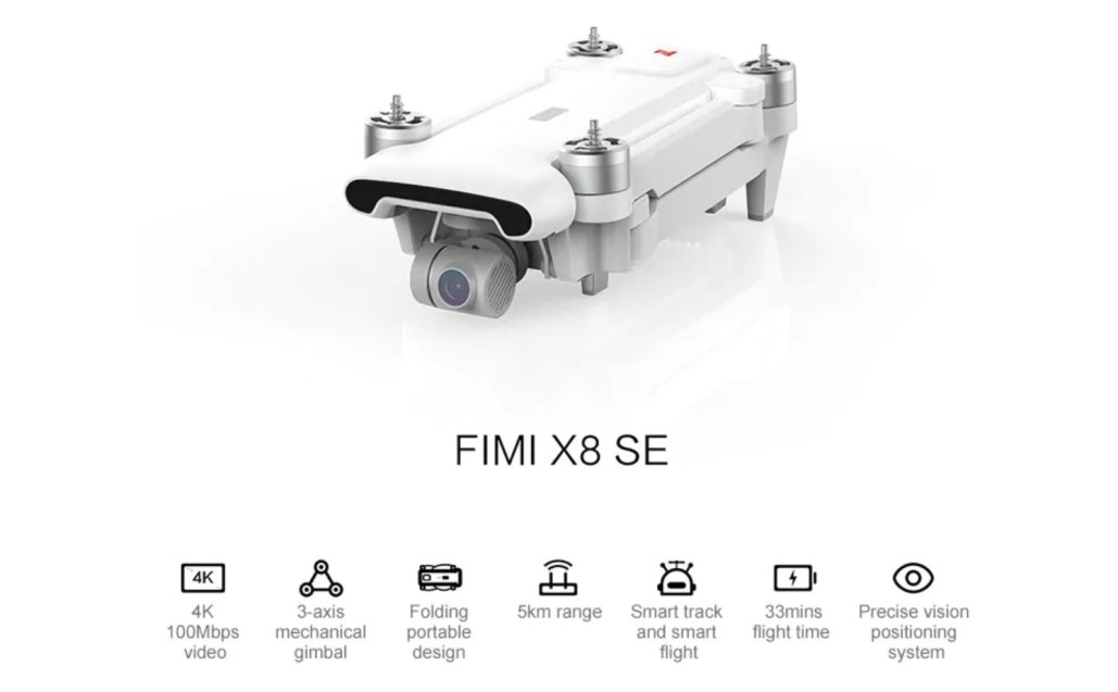 The FIMI X8 SE drone from Xiaomi on Sale With Coupon 2